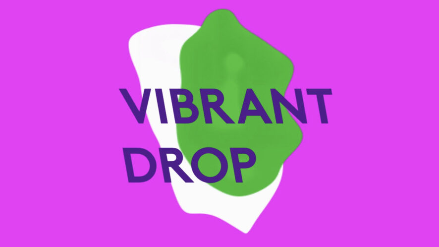 Vibrant Drop by Radiohr